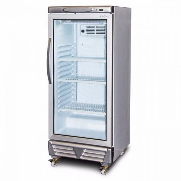 GM0220 LED ECO Flat Glass 215L Upright Display Chiller