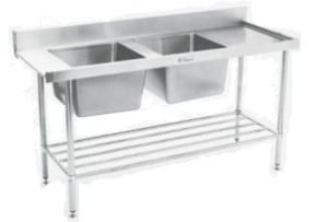 ss09 double sink inlet bench