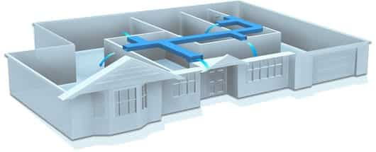 ducted air conditioning diagram, Domestic Ducted Systems