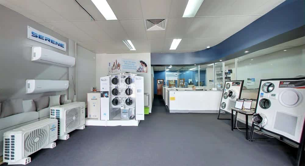Coles Refrigeration and Air Conditioning showroom