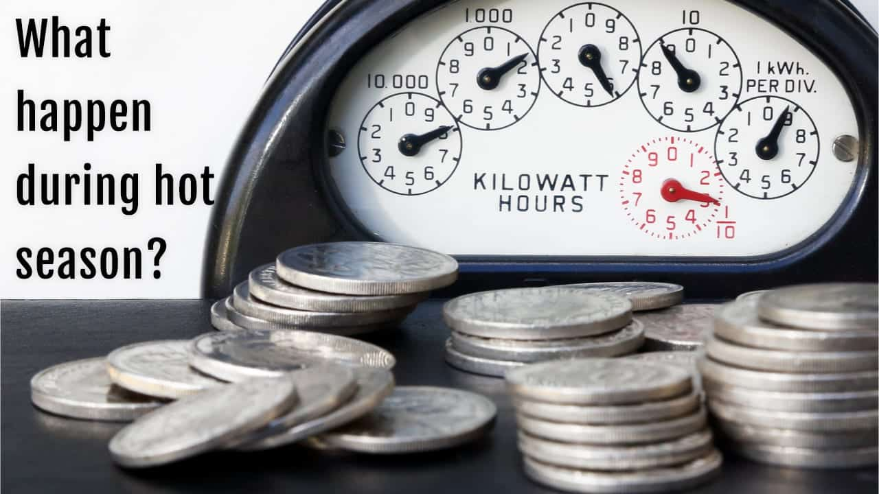 electric bills skyrocket during the hot season