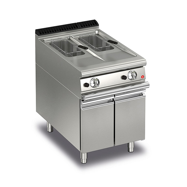 Q70FRI/G610 Baron 10+10L Split Pot Gas Deep Fryer With Piezo Ignition