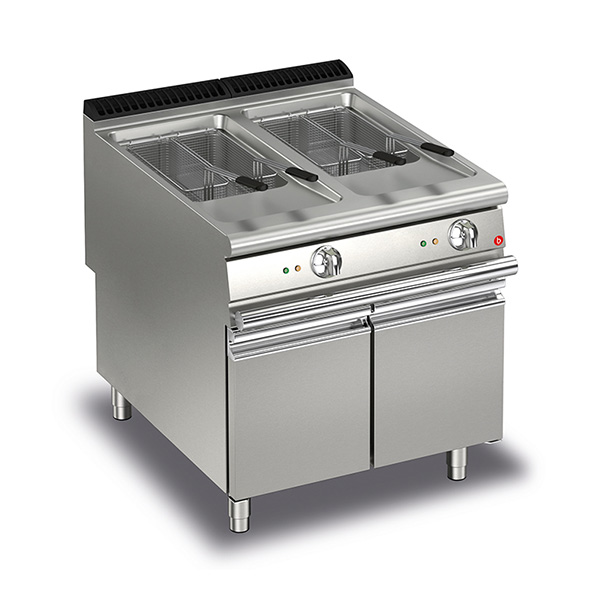 Q90FRI/G820 Baron 20+20L Double Basin Gas Deep Fryer With Electric Ignition