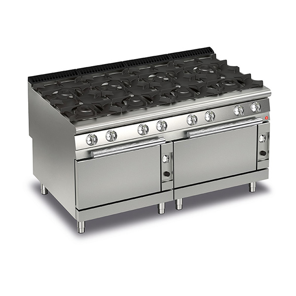 Q90PCF/G1605 Baron 8 Burner Gas Cooktop With 2 Gas Ovens