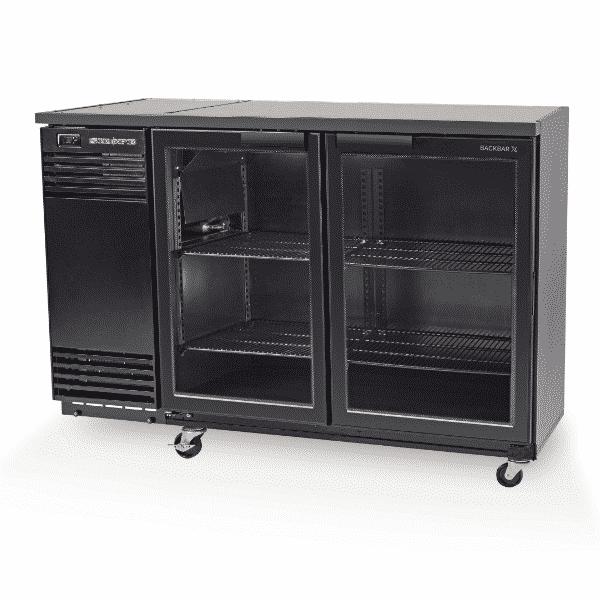 BB380X-2SW Skope Black BackBar with 2 Glass Swing Doors